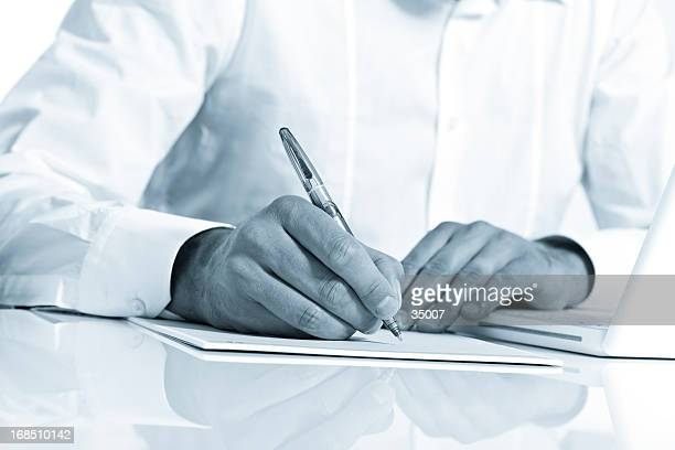 business notes - managing director stock photos and pictures