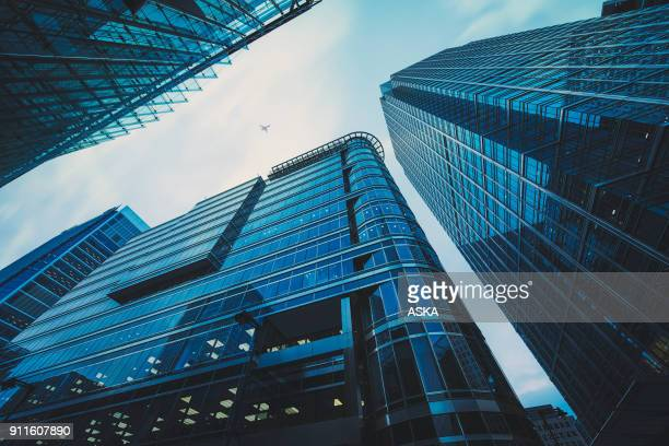 business office building in london, - abstract foto e immagini stock