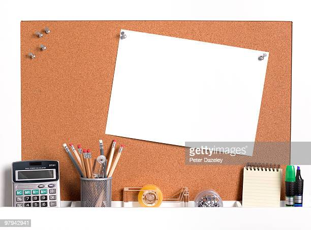 business office notice board with copy space - bulletin board stock pictures, royalty-free photos & images