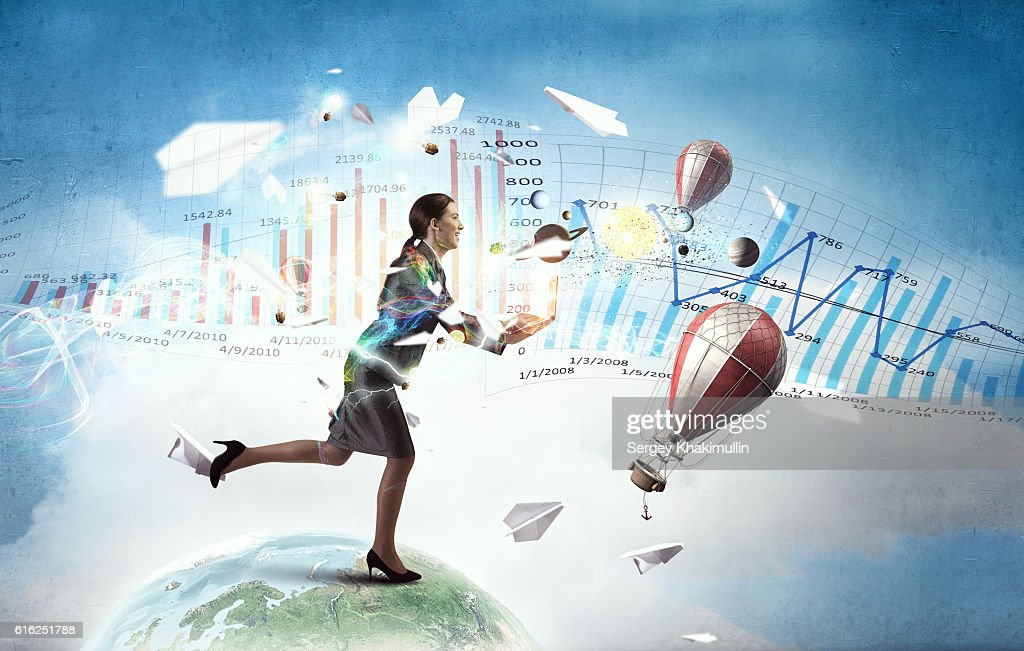 Business on the move . Mixed media : Foto de stock