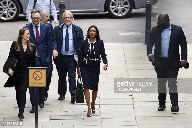 Business owner and antiBrexit activist Gina Miller arrives at the High Court London on September 6 to receive the verdict of an urgent judicial...