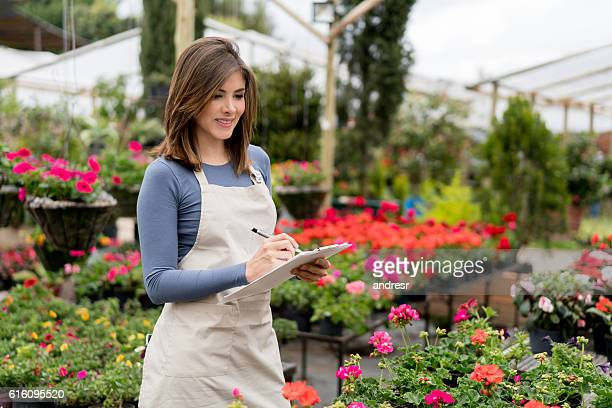 Business owner at a greenhouse