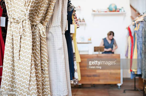 Business owner in fashion boutique