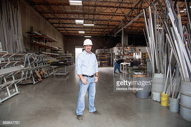 business Owner infant of warehouse