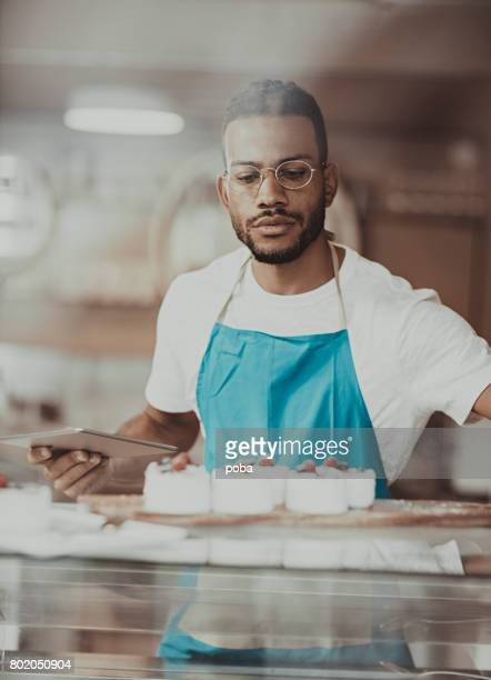 Business owner  working in bakery