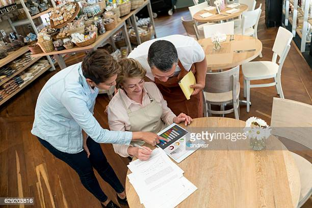 Business owner working on a business plan