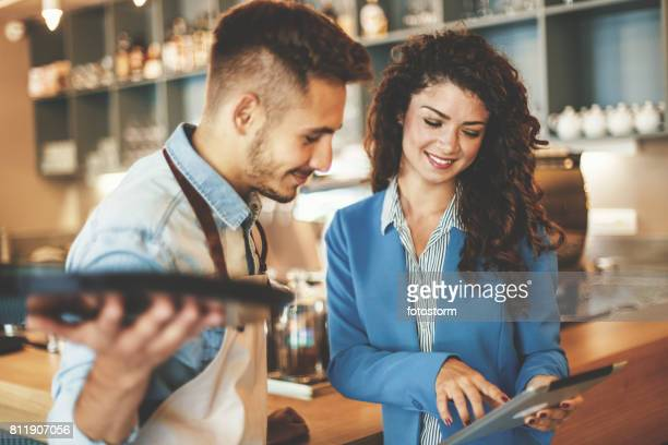business owners - restaurant manager stock pictures, royalty-free photos & images