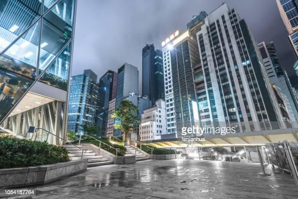 business park,urban square - büropark stock-fotos und bilder