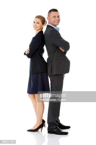 Business People Against White Background