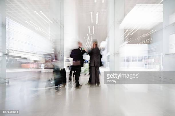 business people airport meeting - obscured face stock pictures, royalty-free photos & images