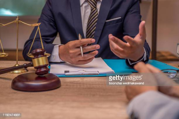business people and lawyer or judge team discussing co-investment conference, concepts of law, advice, legal services. - penalty stock pictures, royalty-free photos & images