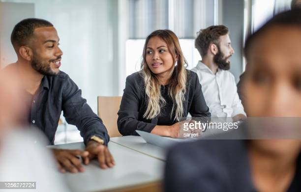 business people at a conference - participant stock pictures, royalty-free photos & images