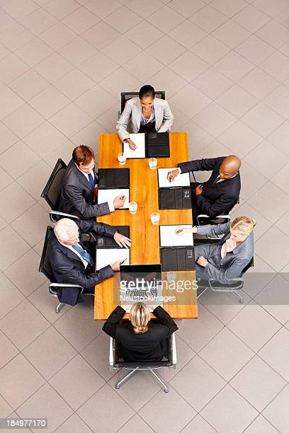 Business People at a Conference Table