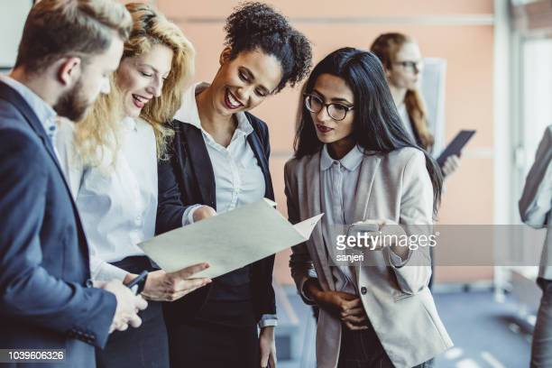 business people at a seminar - press conference stock pictures, royalty-free photos & images