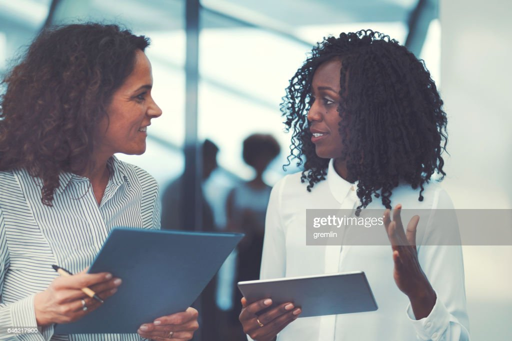 Business people at conference, coffee break : Stock Photo