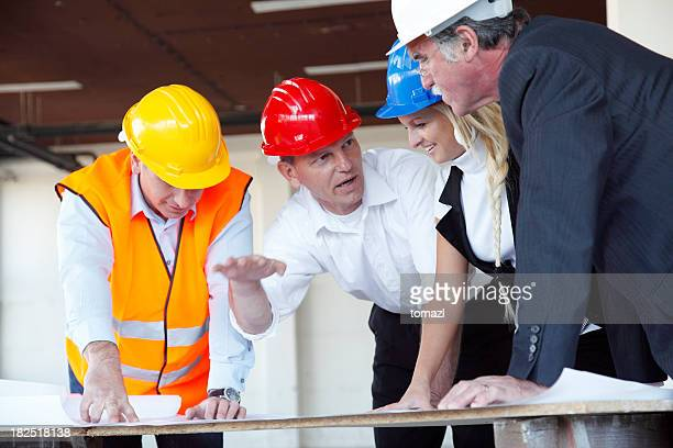 Business  people at construction site