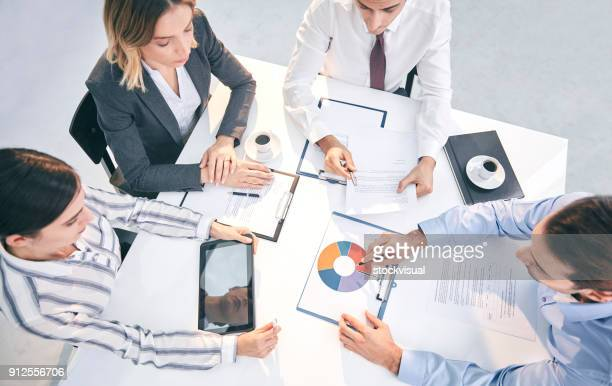 business people at meeting - shareholder's meeting stock photos and pictures