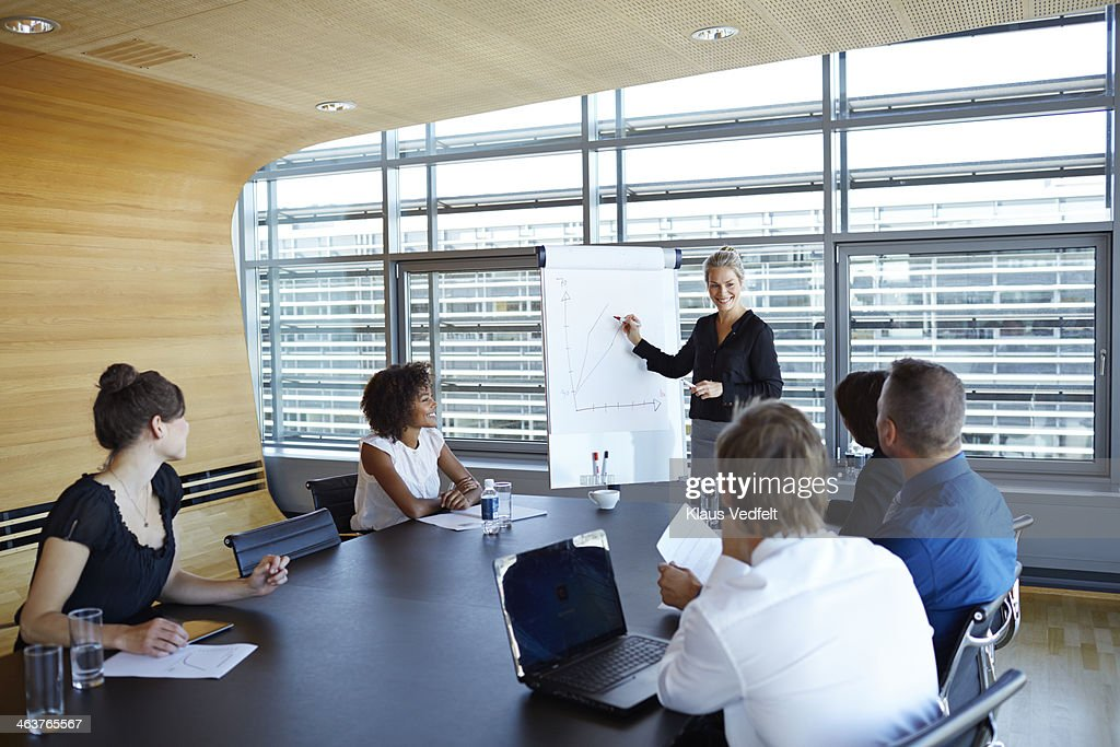 Business people at presentation : Stock Photo