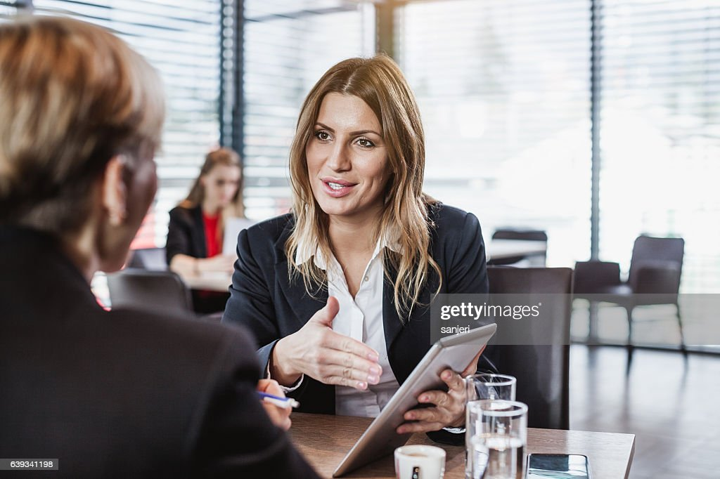 Business People at the Cafe Restaurant : Stock Photo