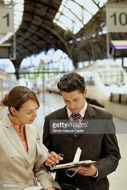 Business People at the Train Station