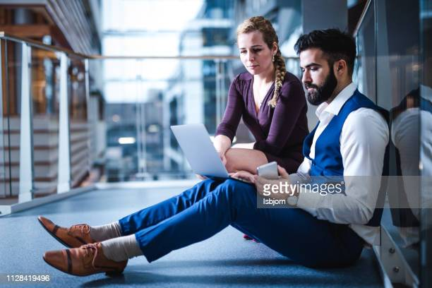 business people at video chat. - businesswear stock pictures, royalty-free photos & images