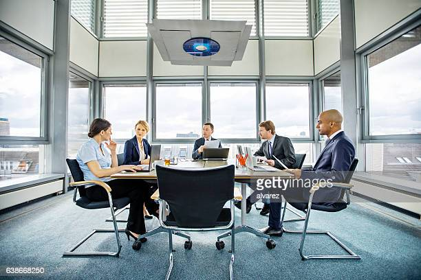 Business people brainstorming in conference room