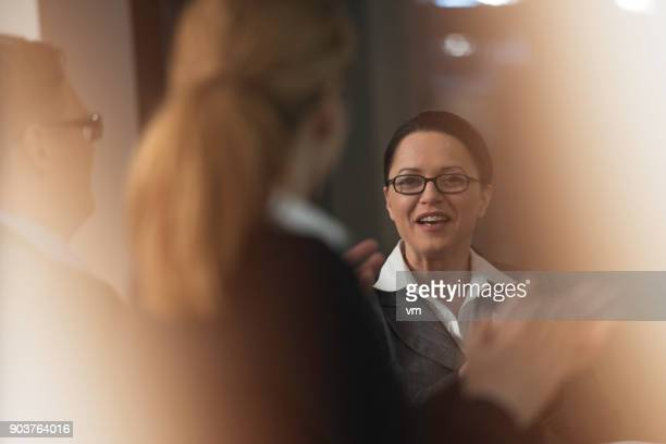 business people clapping - soft focus stock pictures, royalty-free photos & images