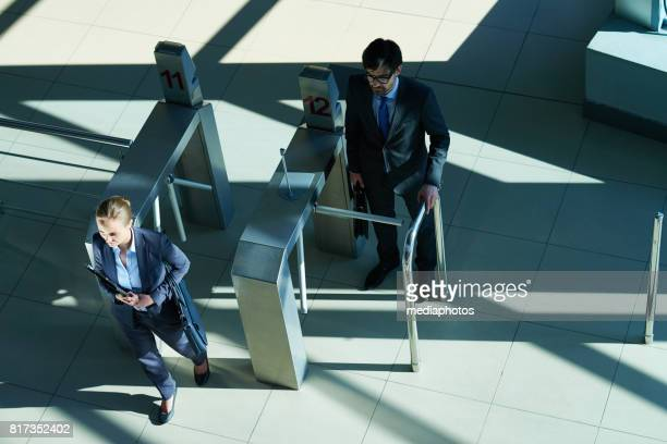 Business people Coming to Work