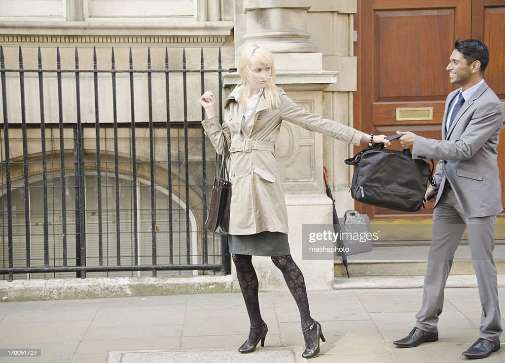 Business People Conflict on the street : Stock Photo