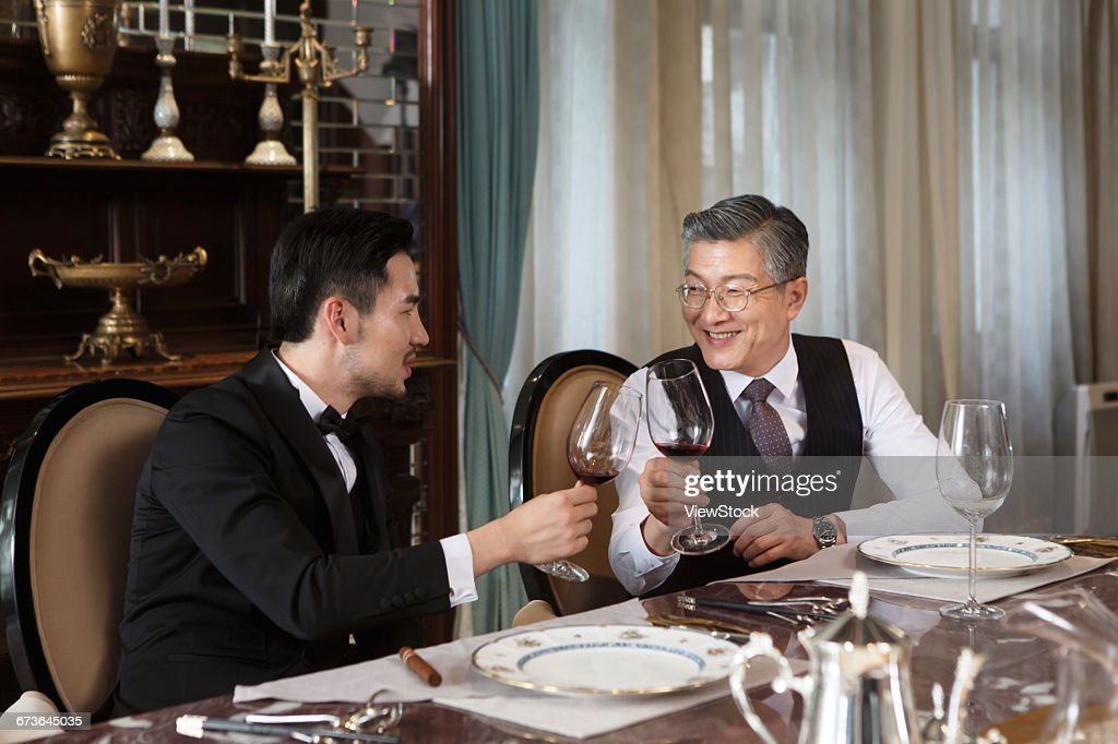 Business people dinner : Stock Photo