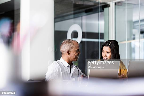 business people discussing in office - face to face stock pictures, royalty-free photos & images