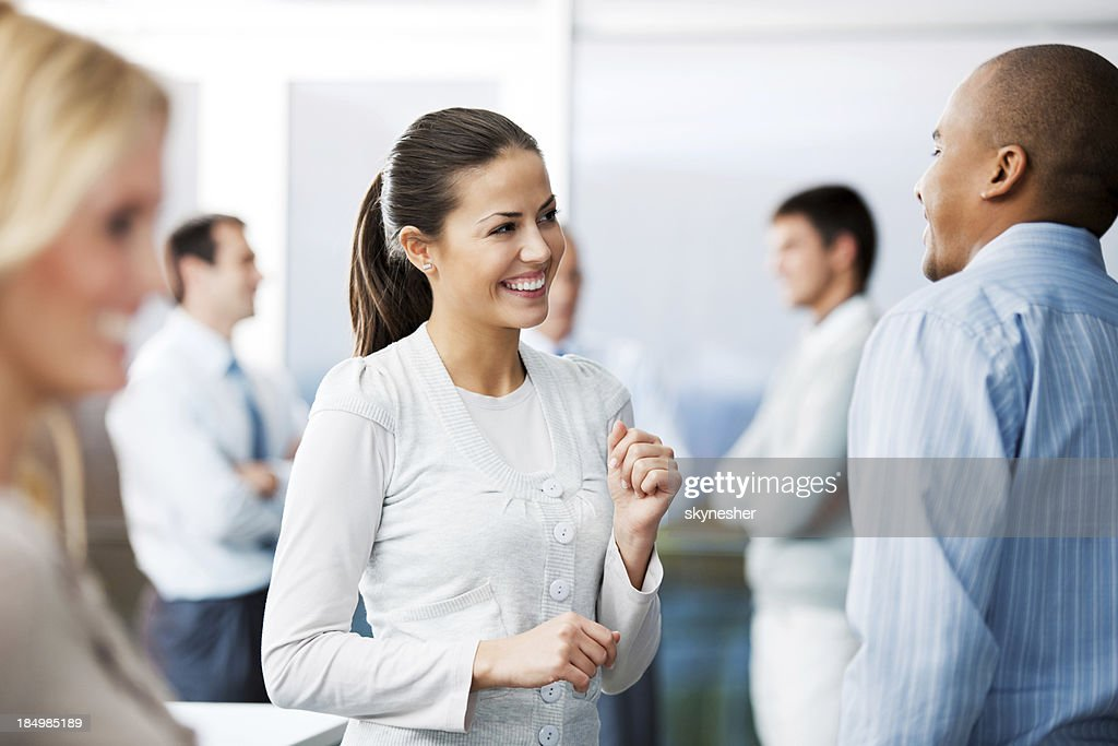 Business people discussing. : Stock Photo