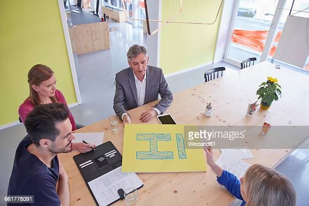 Business people having a meeting in board room
