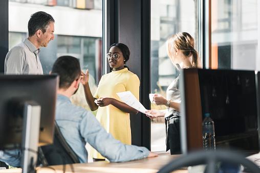 Business people having a meeting in office - gettyimageskorea