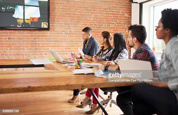Business people having a video conference