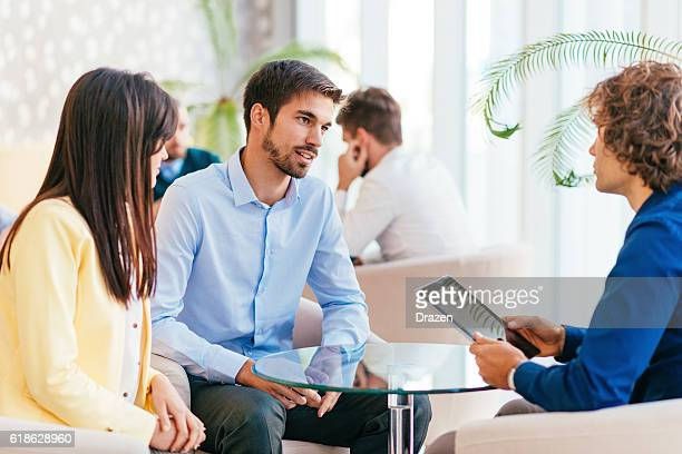 business people having discussion time - candid forum stock pictures, royalty-free photos & images