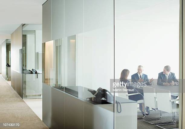 business people having meeting in conference room - copy space stock pictures, royalty-free photos & images