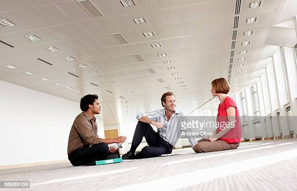 business people having meeting in empty office - temporary stock pictures, royalty-free photos & images