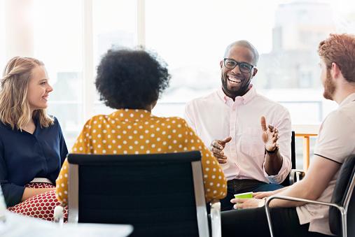 Business people having meeting in modern office - gettyimageskorea