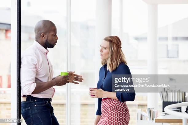 business people having meeting in modern office - two people stock pictures, royalty-free photos & images