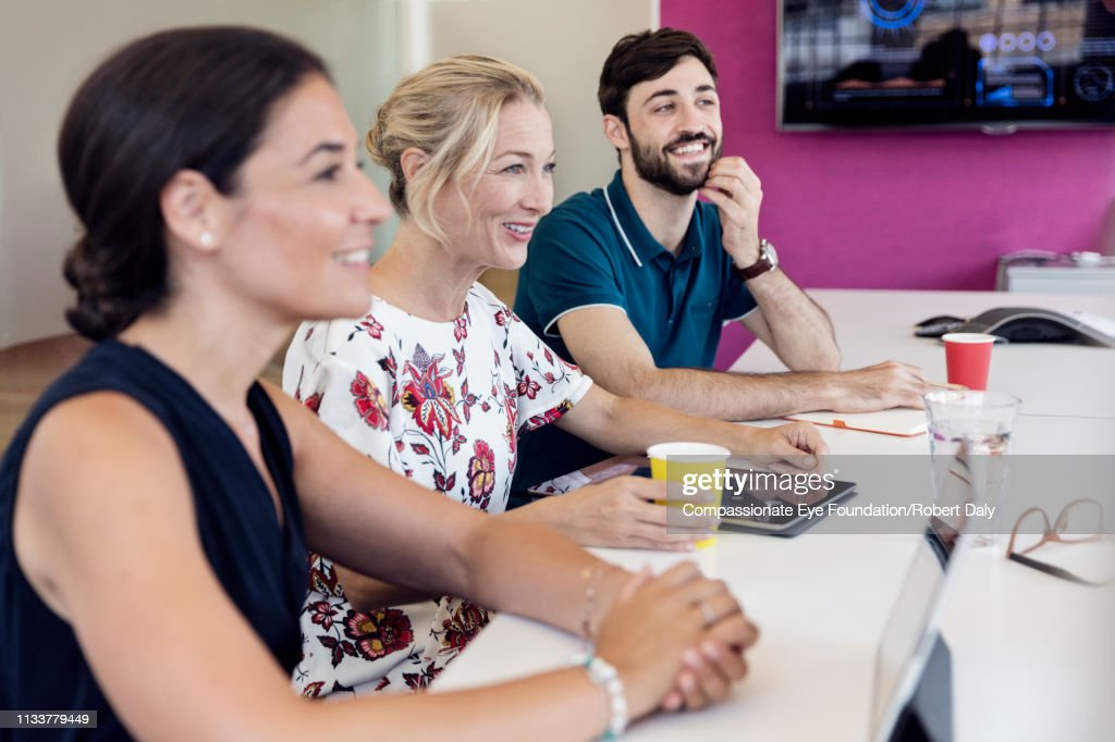 Business people having meeting in office : Stock Photo
