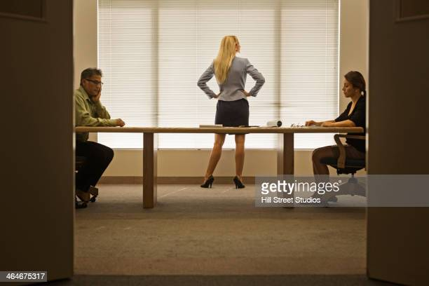 business people having meeting - diva human role stock photos and pictures
