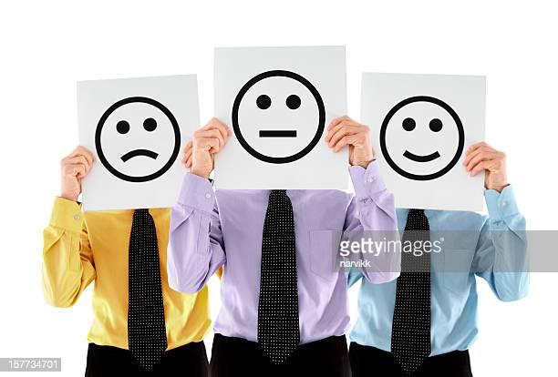 Geschäftsleute emoticons mit verschiedenen