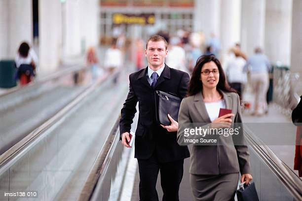 Business people hurrying