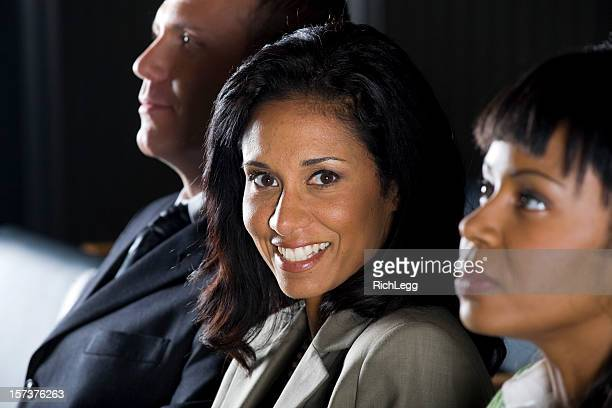 business people in a conference - rich_legg stock photos and pictures