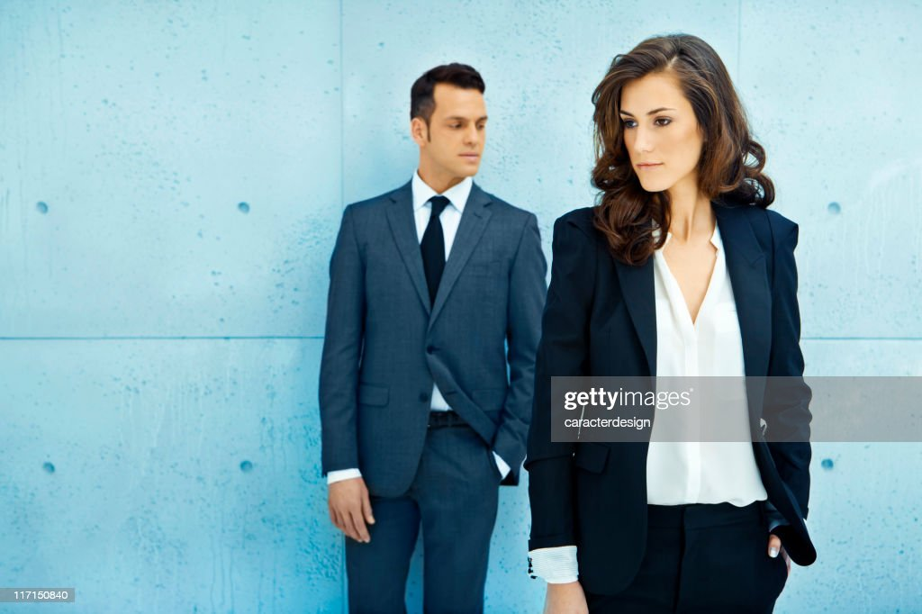 Business people in a modern building : Stock Photo