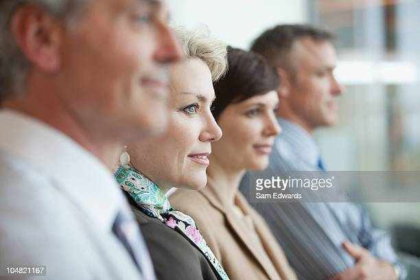 business people in a row - juror law stock pictures, royalty-free photos & images
