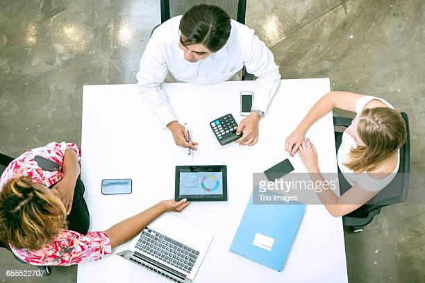 business people in discussion in office