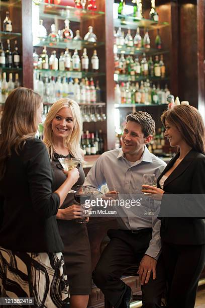 Business people in hotel bar