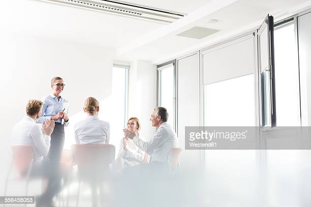 Business people in meeing
